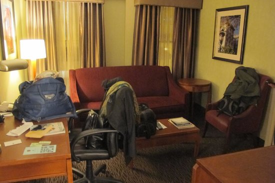 Jefferson Clinton Hotel: Living room of our suite