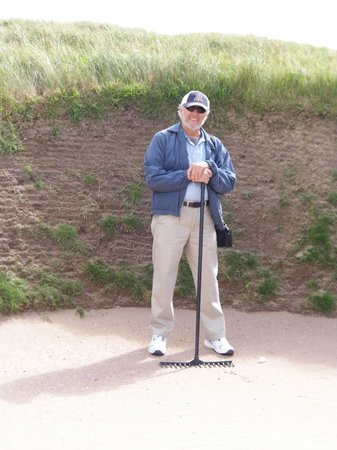 The Old Course Experience: In the sand trap & over my head.