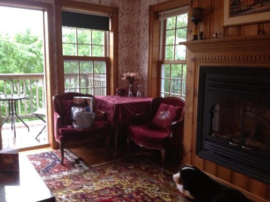 Stanyar House Bed and Breakfast : Warm up by the fire