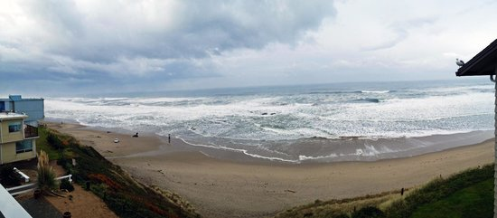 The Coho Oceanfront Lodge: Panorama view from the Sunset Suite