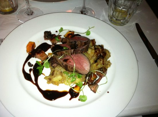 Restaurant Zeleste : Cold and Extremely Salty Deer with Raw Mashed Potatoes