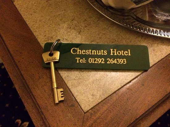 The Chestnuts Hotel : I loved getting a real room key. Leaving it at main desk was a little odd.