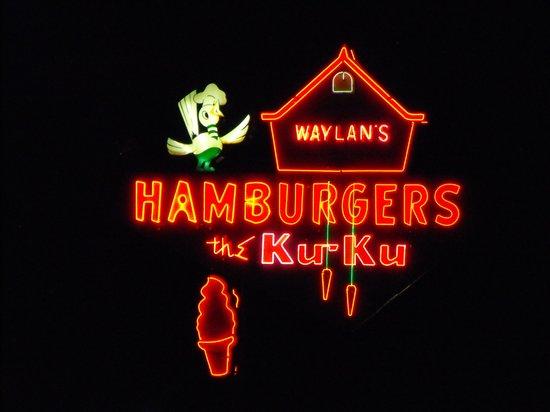 Ku-Ku: neon sign