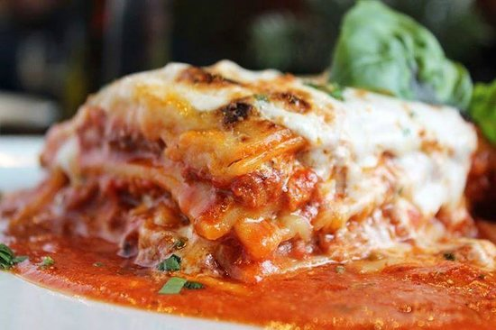 Porto: The Vegetarian Lasagna is made with thin, slow-dried slices of local eggplant and yellow squash.