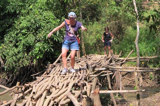 Ban Xieng Lom, Laos: Trek around Ban Xien Lom on the way to TadSae waterfall