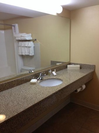 Bathroom, room 407, Canad Inns Destination Center Grand Forks  |  1000 South 42nd Street, Grand