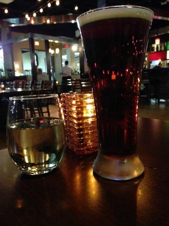 L'Bistro: Chardonnay, Sam Adams and a candle to open, 'L Bistro  |  Alerus Center, Grand Forks, ND