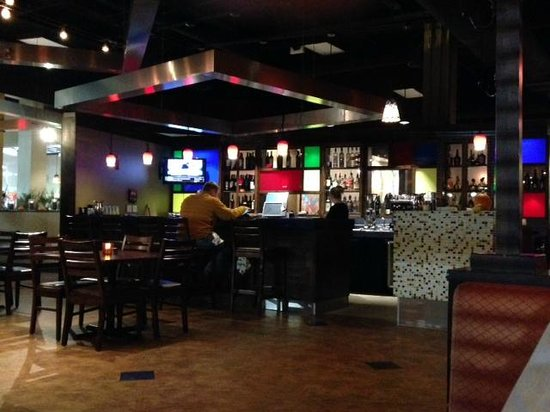 L'Bistro: View of the bar area from our seat, 'L Bistro  |  Alerus Center, Grand Forks, ND