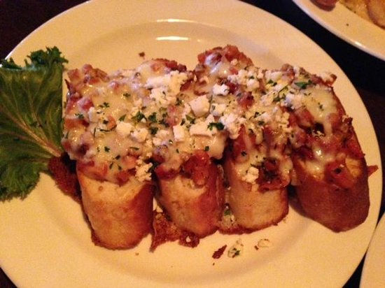 L'Bistro: Small order of the baked bruschetta!  Wonderful, 'L Bistro  |  Alerus Center, Grand Forks, ND