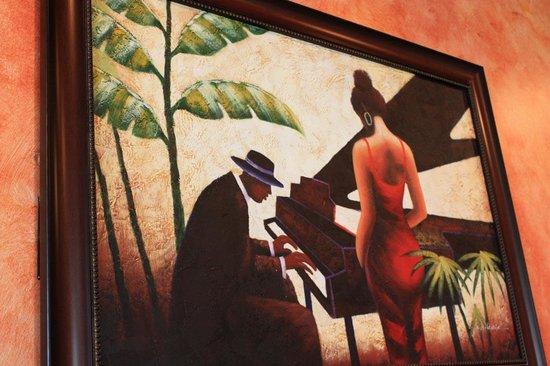 Mango Fondue & Grill: One of our favorite Paintings