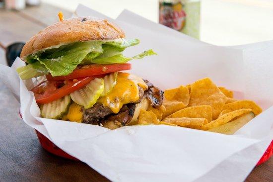 Sebastian's Cafe: Hearst Ranch double cheeseburger