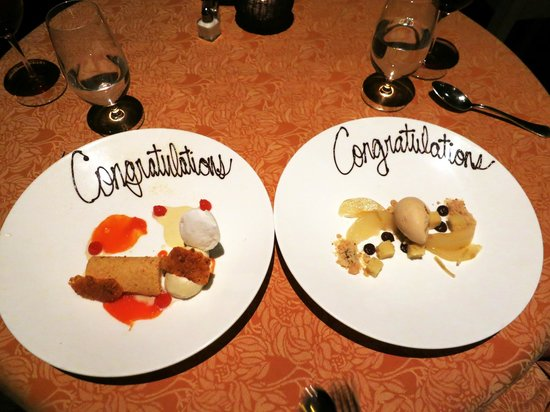 Auberge du Soleil: Our delicious dessert