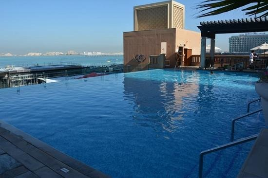 Infinity pool view to the palm picture of sofitel for Pool show dubai