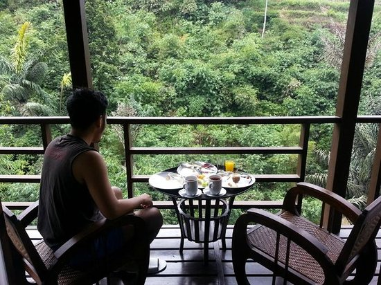 Green Forest Resort: breakfast in room