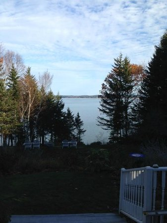 A view from the front porch of the Inn at Bay Ledge