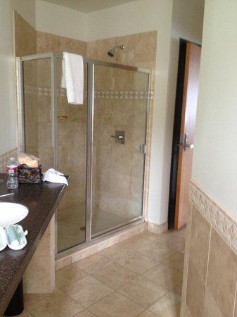 Inn At Whittier: Master bath/shower