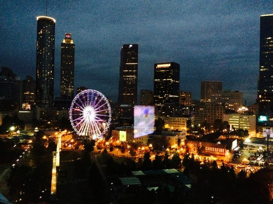 Omni Atlanta Hotel at CNN Center: Night View from North Tower 1380