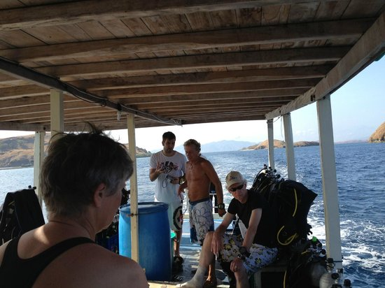 Komodo Resort & Diving Club: The boat