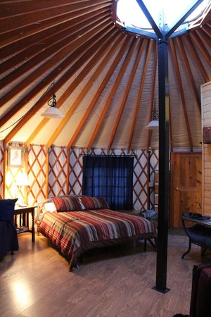 Alaska Base Camp: inside the yurt