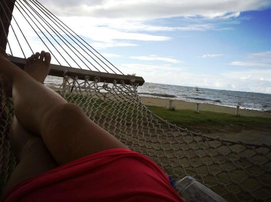 Bamboo Hostel: Relax in one of the many hammocks
