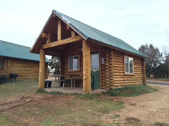 Zion Ponderosa Ranch Resort: Cowboy Cabins from the Outside