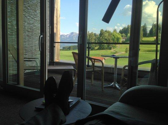 Hotel Kaufmann: Ausblick und Terasse (Neubau)