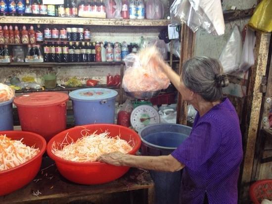 Saigon Street Eats: fresh raddish and carrot