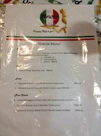 Pinos's Pizza and Pasta: pasta menu reasonably priced