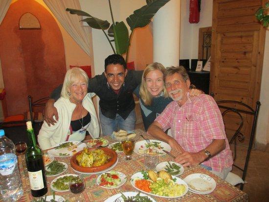 Riad Linda: Dinner at Riad
