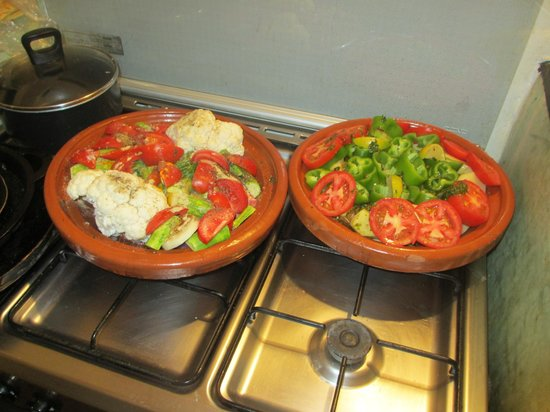 Riad Linda: Rosie´s prepared tagines