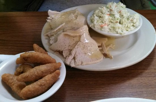 Rebecca's Dutch Kitchen : Rebecca's Turkey Platter with 2 sides $8.95