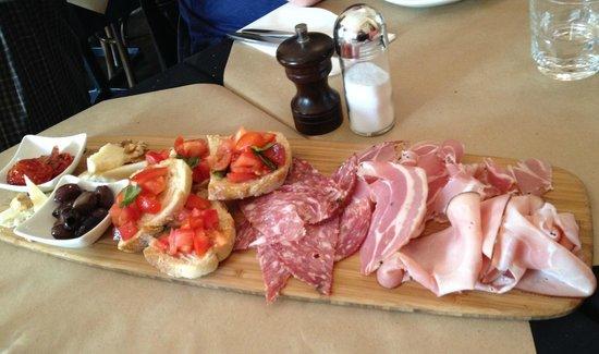 Sicilian Orange: Specially created antipasto platter