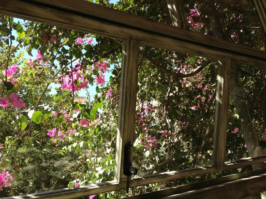 L'Autre bistro: Under the flowers