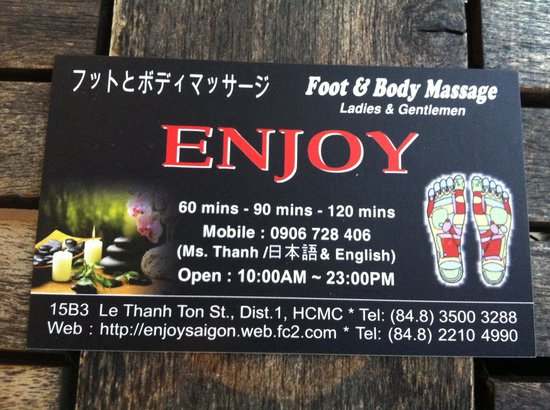 Massage Enjoy: Business card