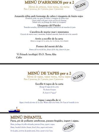 Restaurant Paiolet: Menus