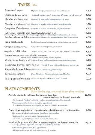 Restaurant Paiolet: Tapes i plats combinats