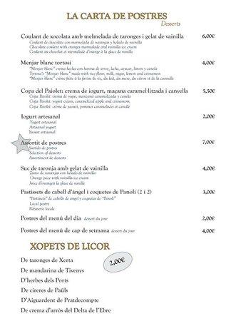 Restaurant Paiolet: Postres