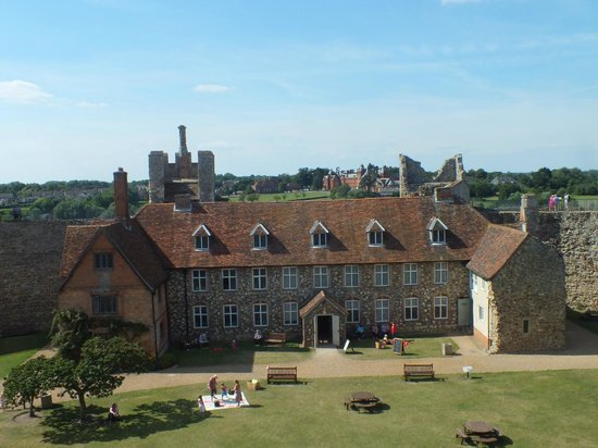 Framlingham Castle: View of poorhouse and beyond
