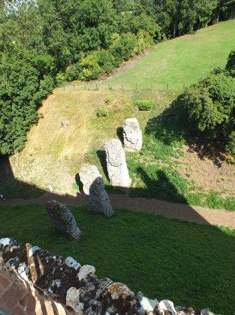 Framlingham Castle: Looking down on remnants of old entrance