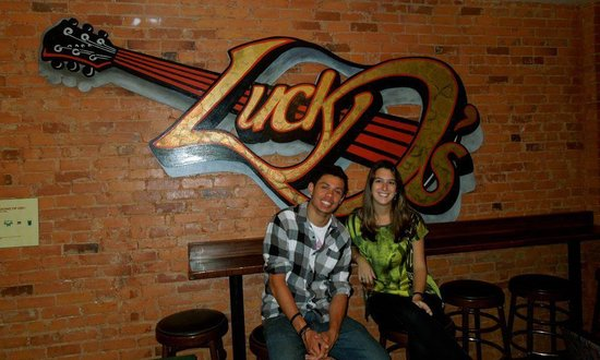 Lucky D's Hostel: Me and my friend at Lucky Ds