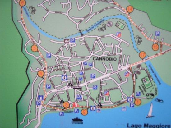 Каннобио, Италия: cartina di Canobbio con Parcheggi