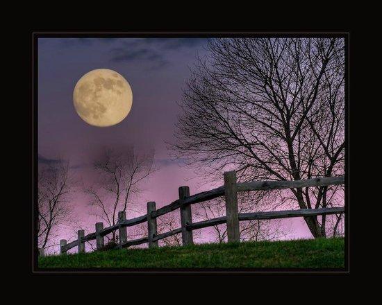 The Inn & Spa at Cedar Falls: November Moonrise at The Inn at Cedar Falls