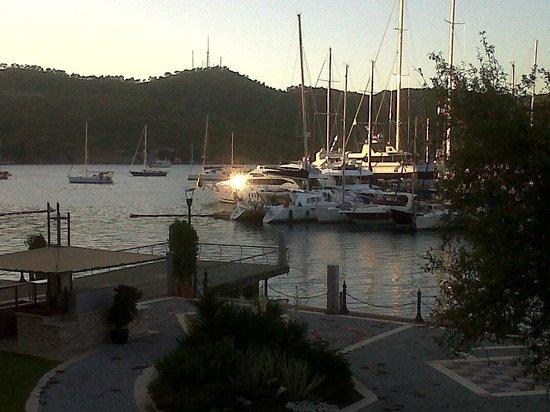 Ece Saray Marina & Resort : sunset from balcony