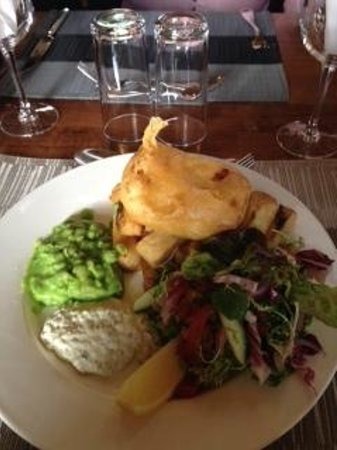 The Waterloo Hotel and Bistro: Vegetarian Fish and Chips (not vegetarian but this was too good to turn down)