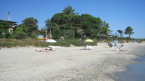 Domaine de l'Avidanella : La spiaggia con l'insegna del residence