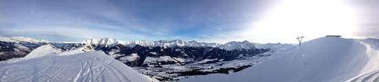 Hotel Surselva: Bergpanorama Winter