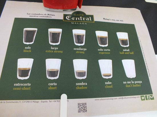 Cafe Central: Coffee Selection
