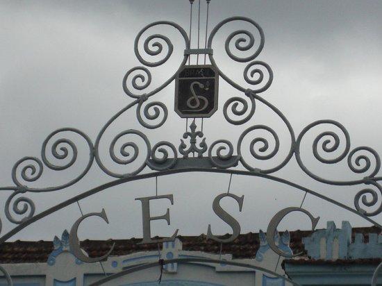 Arco do portão de entrada do museu da FEB.