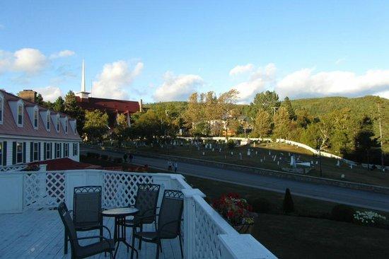Hotel Tadoussac: Blick von der Terrasse