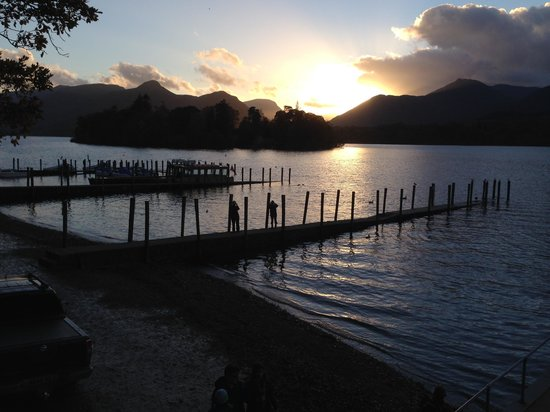 LakeSide House: Sunset over Derwentwater